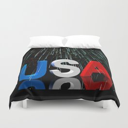 Patriotic USA Sparkler   Duvet Cover