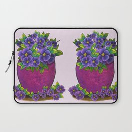 Violets In The Garden Laptop Sleeve