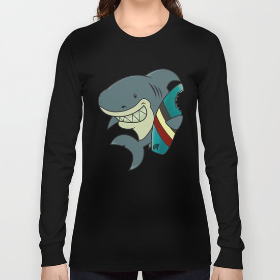 The great white surfer Long Sleeve T-shirt