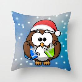 Christmasowl Throw Pillow