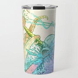 NARWHAL PWNS GIANT SQUID Travel Mug