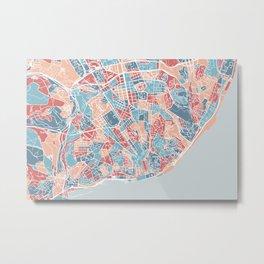 Lisboa map Metal Print