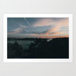Sunset over Brännskär Art Print