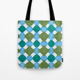 Shibori (green and blue) Tote Bag