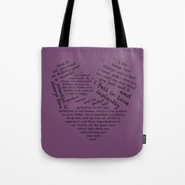 Quotes of the Heart - Cecilos (Black) Tote Bag