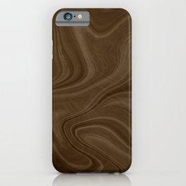 Chocolate Brown Swirl iPhone Case