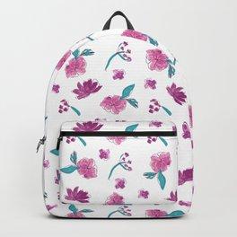 Beautiful Cute Flowers Pattern Print Backpack