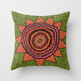 Gypsy SunFlower Throw Pillow