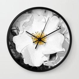 Rosales Dumalis white Wall Clock