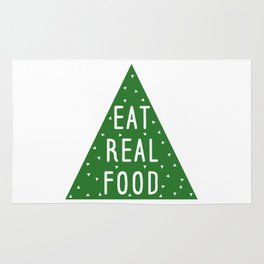 Eat Real Food Rug