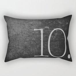 NUMBER 10 BLACK Rectangular Pillow