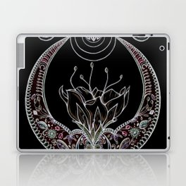 Moon Flower at Midnight in Black and Color Laptop & iPad Skin