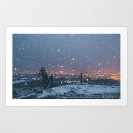 City Snow Art Print