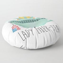 Lady Liber-tea Floor Pillow