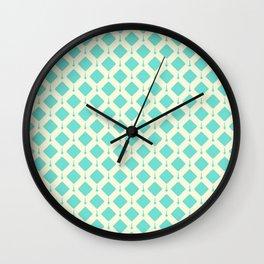 Baby Blue & White Robins Egg Pattern Wall Clock