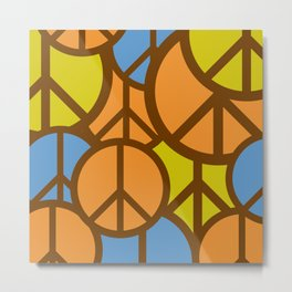 Cool Colorful Groovy Peace Symbols #society6 #decor #buyart #artprint Metal Print
