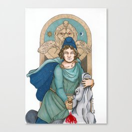 Mithras, God of Justice, Contracts and Cattle Canvas Print
