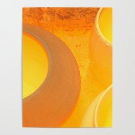 Pots Cool Inside A Kiln Poster