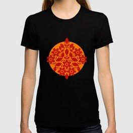 Nordic Linocut Flora - Spice (pattern) T-shirt