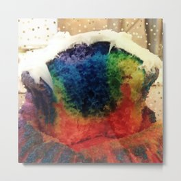 Tie Dye Cupcake Photo Edit Metal Print