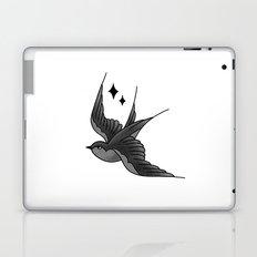 Swallow Flash - mono Laptop & iPad Skin