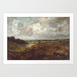 John Constable 1776–1837   Branch Hill Pond, Hampstead Heath, with a Cart and Carters Art Print