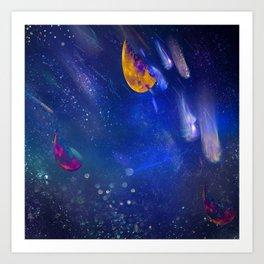 Moon Galaxy Art Print