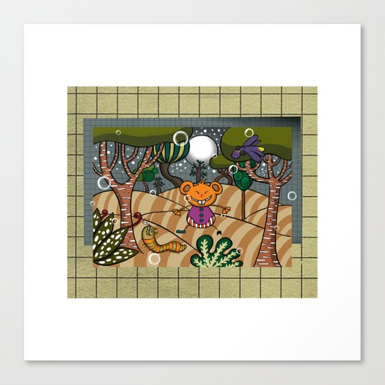 There are terrible some things in the woods!!! Canvas Print