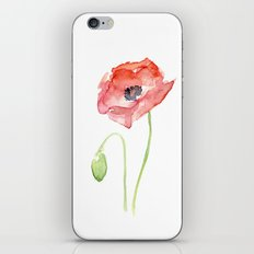Red Poppy Flower Flowers iPhone & iPod Skin