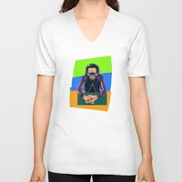 miles davis V-neck T-shirts featuring Davis by Liall Linz