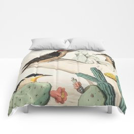 Woodpeckers And Cacti Comforters