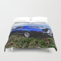 mustang Duvet Covers featuring '68 Mustang by Catherine Doolan