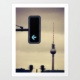 Green Berlin Art Print