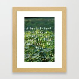 LUCK CLOVERS Framed Art Print