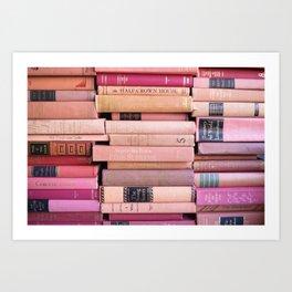 Vintage Pink Stacks Art Print
