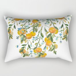 A Bit of Spring and Sushine Trailing Oranges Rectangular Pillow