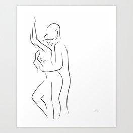 Erotic art. Minimalist sex illustration. Art Print