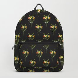Dark floral hand drawn bouquet pattern Backpack