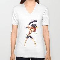 baseball V-neck T-shirts featuring Baseball by Freeminds