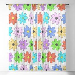 Multi Daisy Sheer Curtain