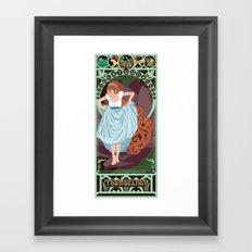 Thumbelina Nouveau - Thumbelina Framed Art Print