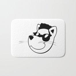 Cat with sunglasses Bath Mat