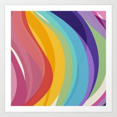 Fig. 045 Colorful Swirls Art Print