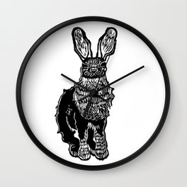 black tailed jack rabbit Wall Clock