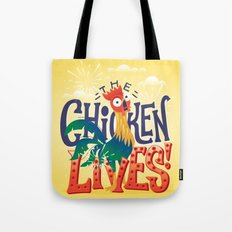 The Chicken Lives Tote Bag