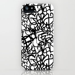Graffiti Pattern | Street Art Urban Graphic iPhone Case