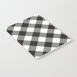 Gingham - Black Notebook