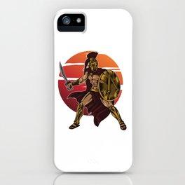 Spartan Warrior | Sparta Greek Fighter Sword Power iPhone Case