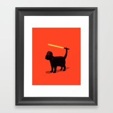 Cat Vader Framed Art Print