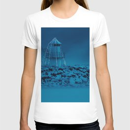 Pier and lighthouse T-shirt